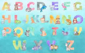 Английский алфавит с животными