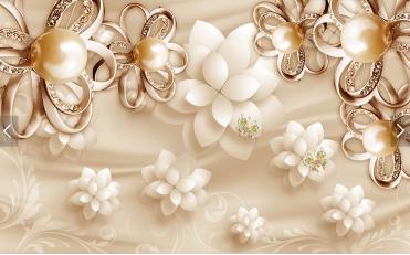 Воздушные цветы с жемчугом