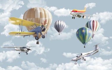 Воздушные шары с вертолётами