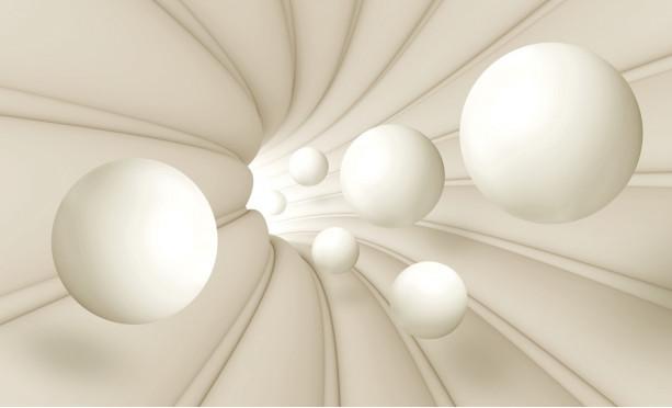 Белые шары и туннель