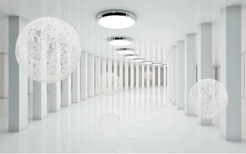 Белые шары в тоннеле