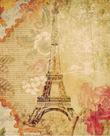 Эйфелева башня и цветы