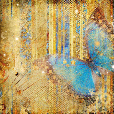 Бабочка с золотом