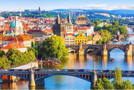 Мосты и красивый город