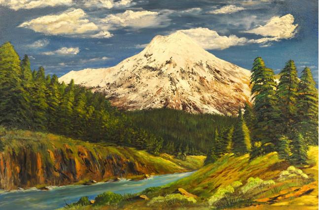 В горах река