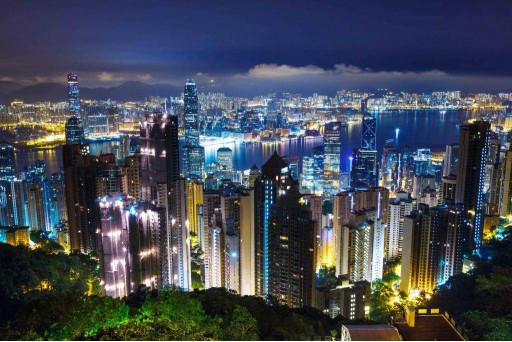 Красивый ночной город
