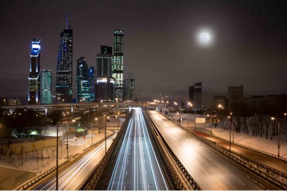 Магистраль ночного города