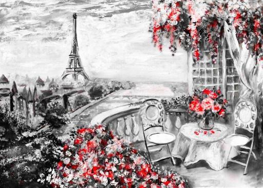 Вид на Эйфелевую башню