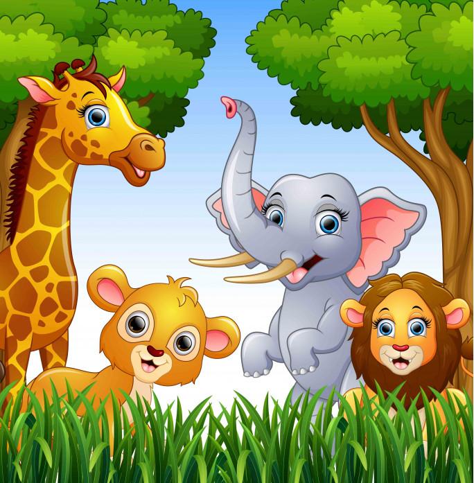 4 животных