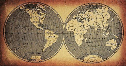 2 полушария земли