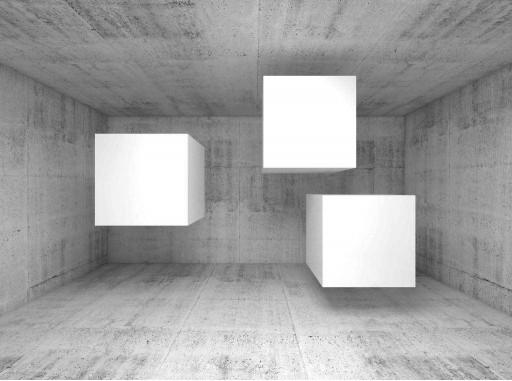 Белые кубы в комнате