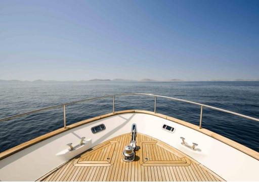 Вид с палубы на море