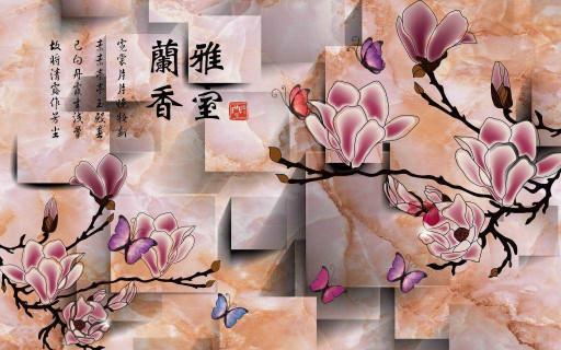 Китайские розовые цветы