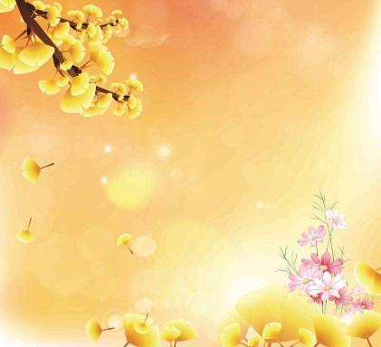 Гинкго и цветы