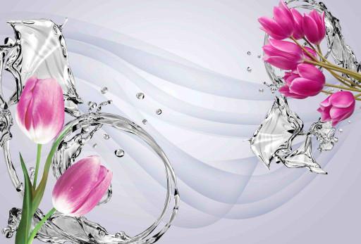 Вода и тюльпаны
