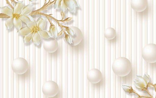 Белые шары и дикие розы