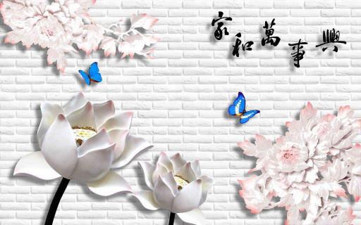 Китайские бело-розовые цветы