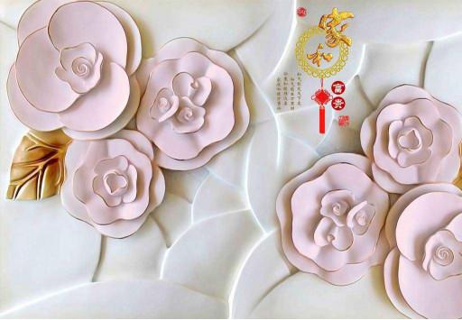Керамические розовые розы