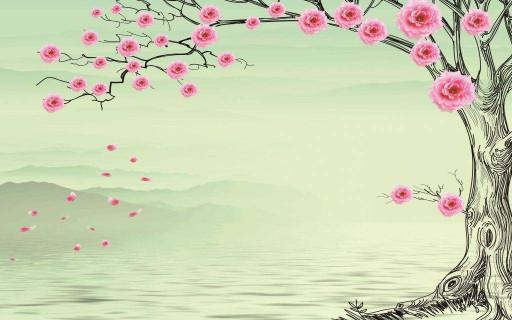 Вода и дерево роз