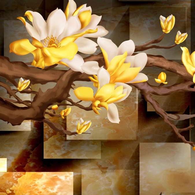 Жёлто-белые цветы
