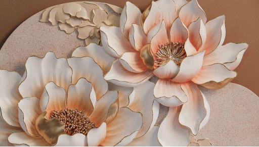 Лотос в персиковых тонах