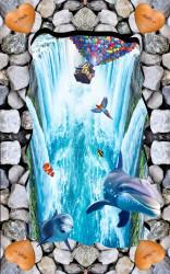 Дельфины и водопады
