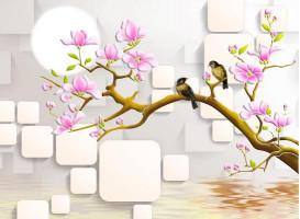 Птицы на сакуре