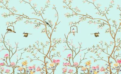 Птицы на цветущих ветках