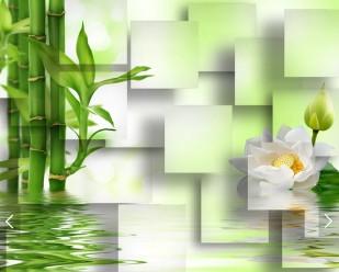 Бамбук и лилия