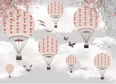 Воздушные шары и птицы