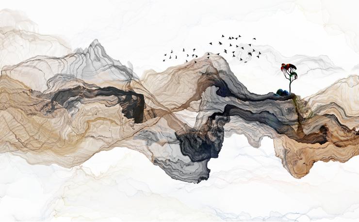 Абстракция и птицы