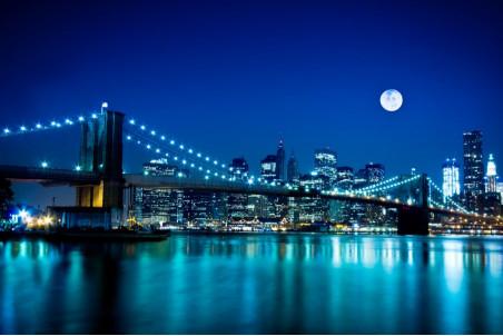 Вечерний красивый город