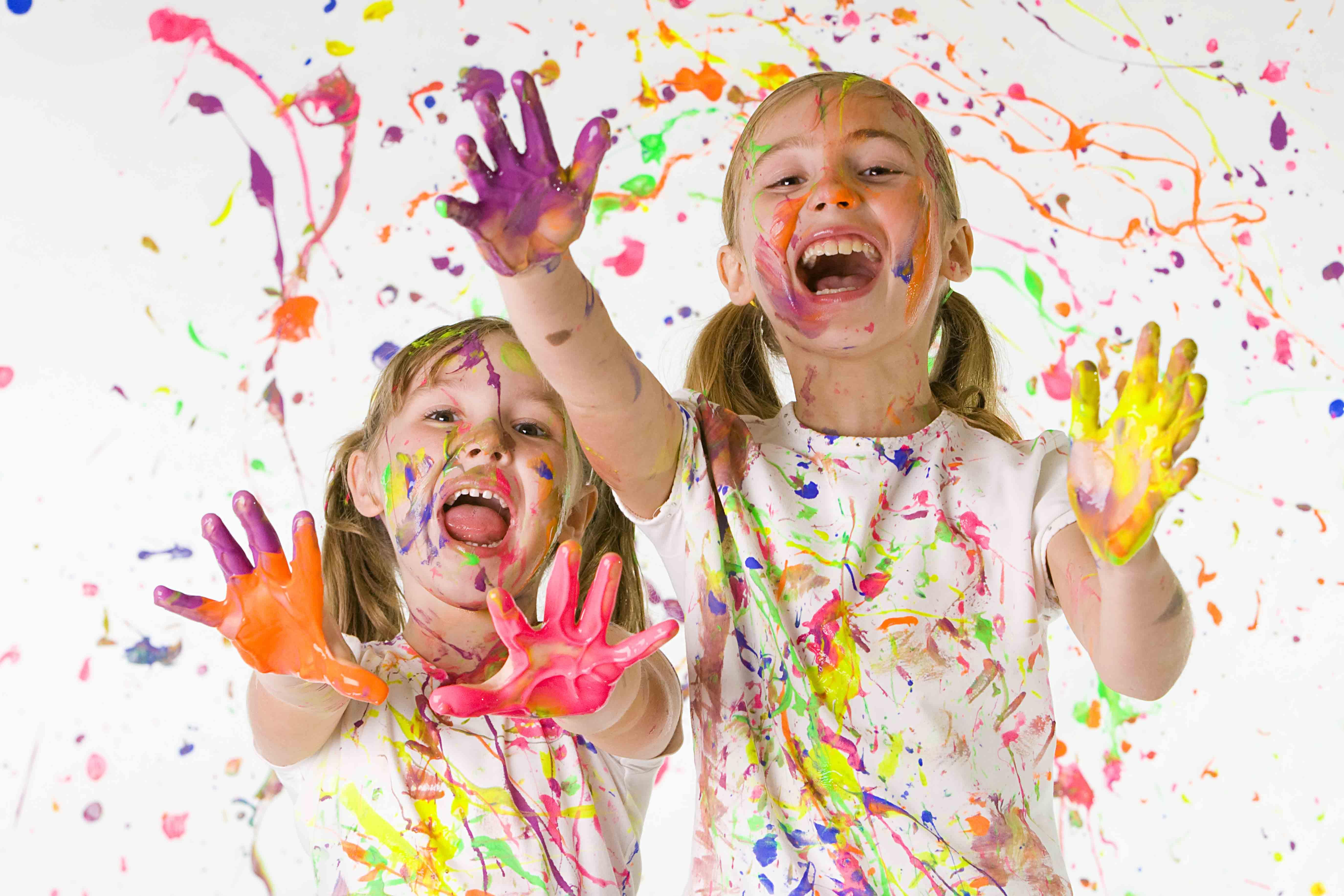 Детское творчество картинки красками, открытки каждый день